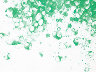 bubbles watercolor green froth