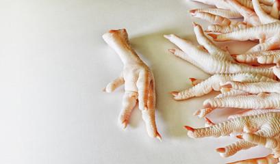 Chicken legs, raw.