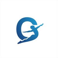 gymnastics initial g logo