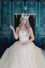 ice queen on her throne