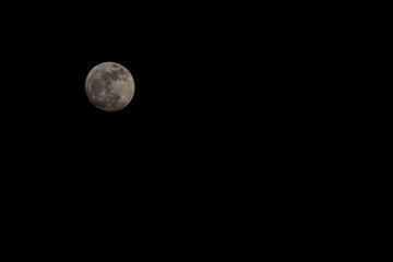 Full Moon on dark sky