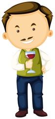 Winemaker holding wine glass in hand