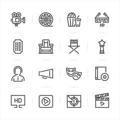 Movie icons with White Background