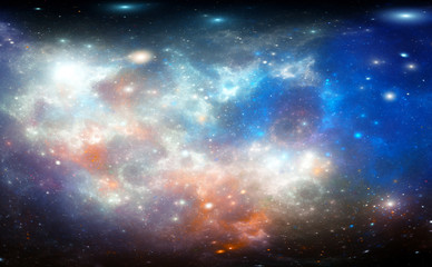 Coroful nebula fractal in space