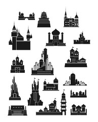 Castle Silhouette Vector Sets