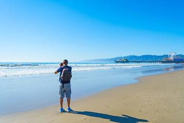 Photographer in Santa Monica beach