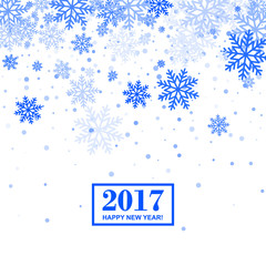 Snowflakes Greeting Card for Christmas and New Year Design. Vector Illustration.