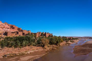 Aït Benhaddou – a mud Berber kasbah  between Sahara desert and Marrakesh Morocco