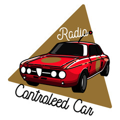 Color vintage radio controlled toys emblem