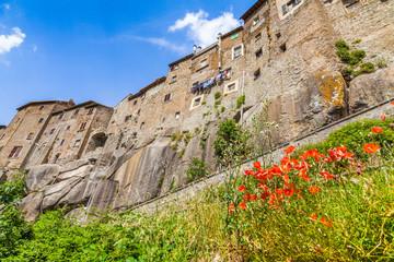 Fototapete - Medieval town of Vitorchiano in Lazio, Italy