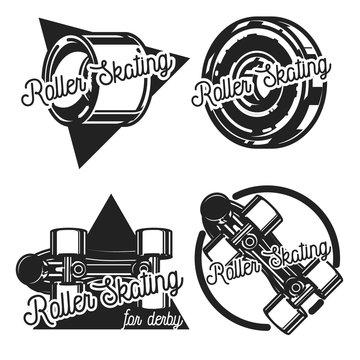 Vintage roller Skates emblems