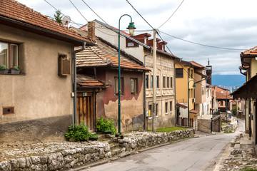 Historical center in Sarajevo