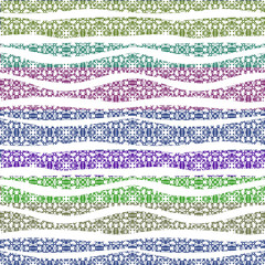Decorative ornate seamless pattern. Waves.