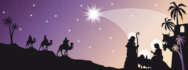 Header with Nativity