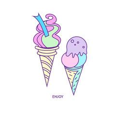 Ice-cream icon character 01