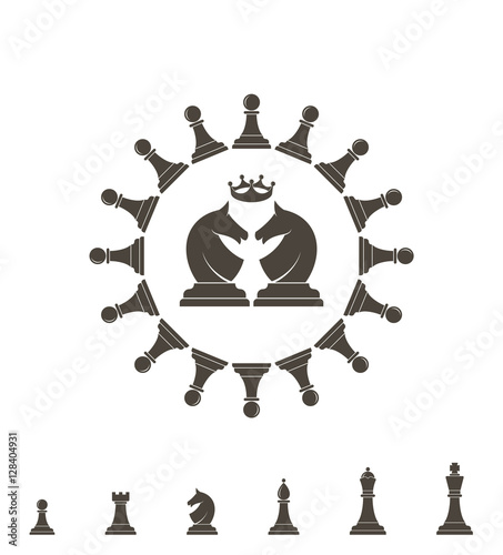 quotchess piece logoquot stock image and royaltyfree vector