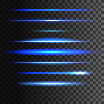 Glowing light lines. Vector light glow effect