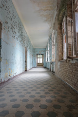 Printed kitchen splashbacks Old Hospital Beelitz beelitz heilstätten