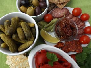 snacks in Mediterranean style