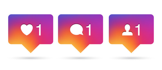 Vector pop ups for social network