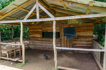 wooden house from Corn Island,  Nicaragua
