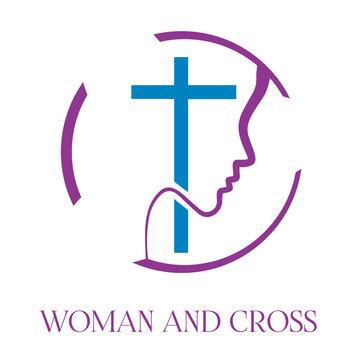 Cross and Woman Logo, Church and Woman Ministries Illustration