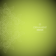 Wallpaper in the oriental style of Baroque. Vector background
