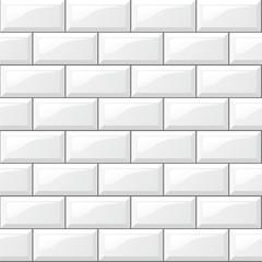 Obraz white tiles background - fototapety do salonu