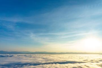 Morning sky and fog