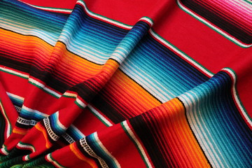 poncho Mexico Mexican background cinco de mayo rug blanket fiesta background with stripes copy space pattern stock photo photograph image picture