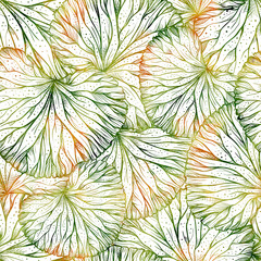 Watercolor style floral seamless pattern