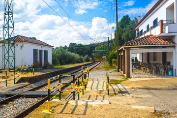 Belver railway station in the central part of the country. Portugal