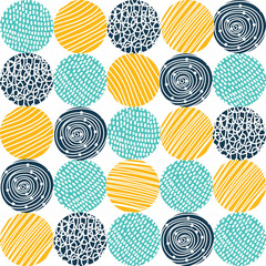 Decorative polka dot pattern. Vector seamless pattern.