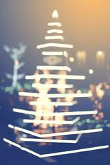 Christmas bokeh light