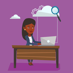 Cloud computing technology vector illustration.