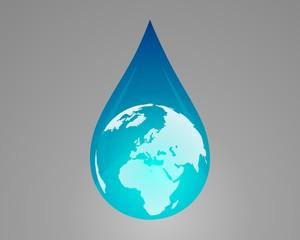 Water drops earth