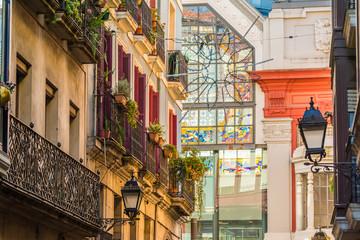 Papiers peints La Havane modern and old architecture at downtown bilbao, spain