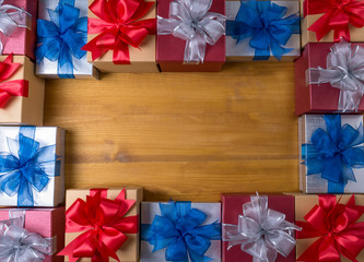 BOX gift  and small gift wrapped , presents and Christmas , gift