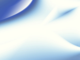 Abstract fractal with gradients and curves in shades of blue on white. Text space. For tech based projects, templates, layouts, leaflets, covers, web, skins, presentations, background for PC or phone.