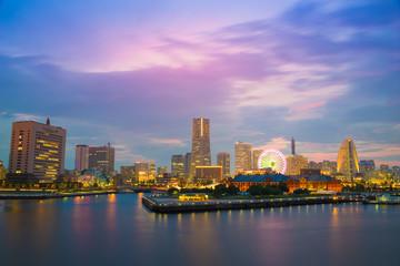 cityscape of Minato Mirai, Yokohama, Japan