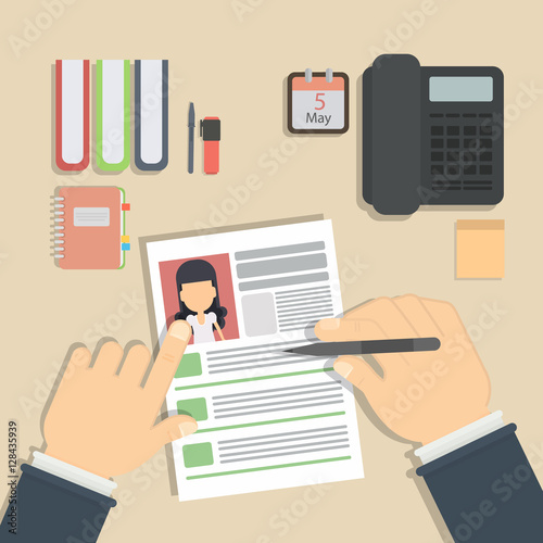 u0026quot supervising and accepting resume  director considering cv  finding new staff  office desktop
