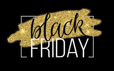 Black Friday Lettering Sale Discount banner.