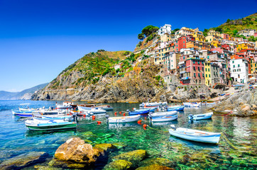 Riomaggiore, Cinque Terre, Italy Fototapete