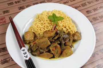 poulet au lait de coco et curry 27112016