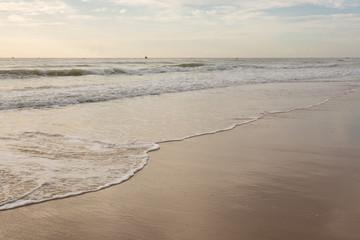 beautiful summer sea with clean sand beach