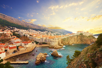 Wall Mural - View on ancient castle in Dubrovnik. Croatia.