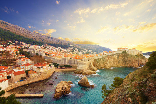 View on ancient castle in Dubrovnik. Croatia.