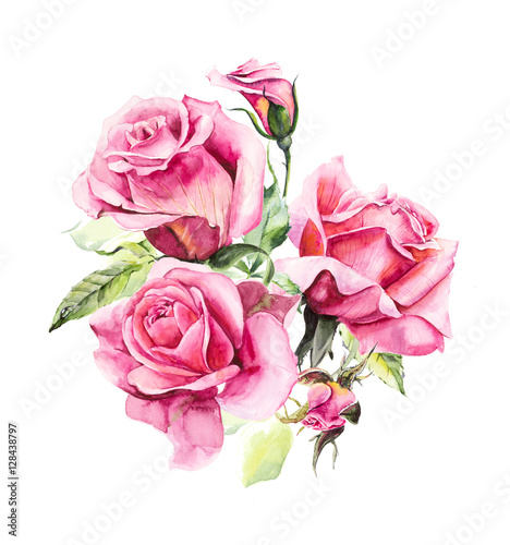 """Rosebush. Pattern from pink rose. Wedding drawings ..."