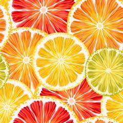 Citrus slices seamless