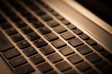 Laptop keyboard detail
